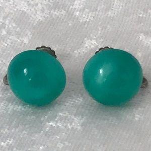Vintage Richelieu Sterling Moonglow earrings